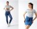 Pollera y jeans