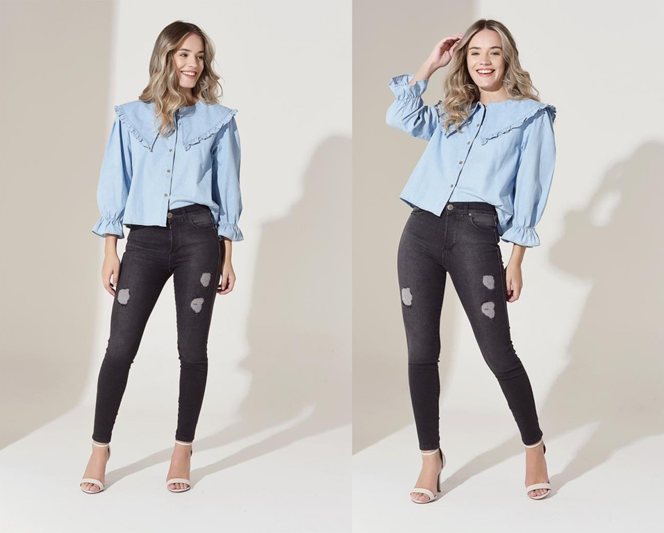 Skinny jeans gris oscuro